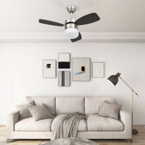 Ceiling Fan with Light and Remote Control 76 cm Dark Brown