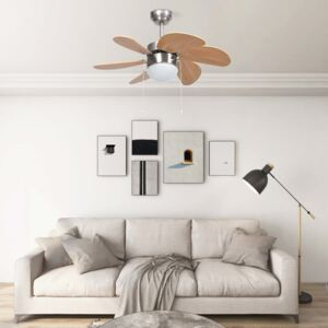 Ceiling Fan with Light 76 cm Light Brown