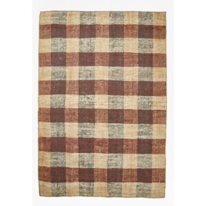 Maize Chequered Rug - brown check