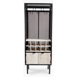 Wine Cabinet - black and natural