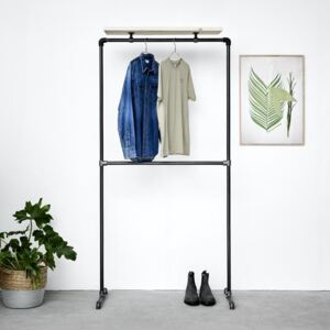ZIITO DT - Clothes rack with two pipes