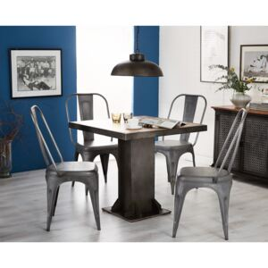 Urban Industrial Square Dining Table