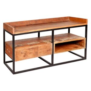 Reclaimed Wood and Metal Limited Edition TV Stand