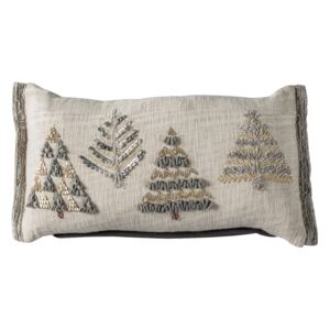 Embroidered Fir Trees Cushion