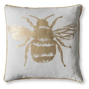 Bumble Bee Cushion in Gold & White
