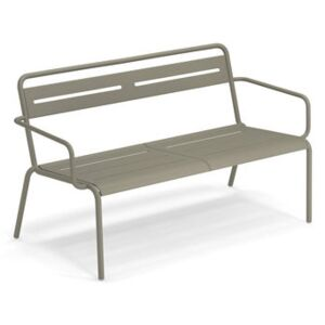 Star Stackable bench - / With armrests - L 129 cm by Emu Grey