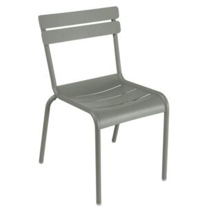 Luxembourg Stacking chair - Metal by Fermob Green/Grey