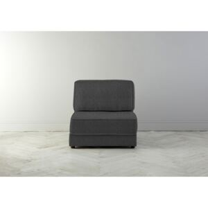 Dacre Single No Arms Sofabed in Crow Black