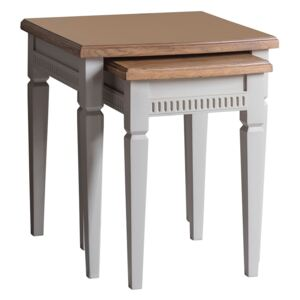 Sienna Nesting Tables in Ice Grey