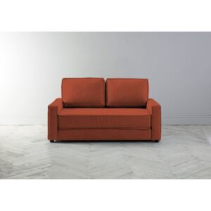 Dacre Two-Seater Sofabed in Marmalade Orange