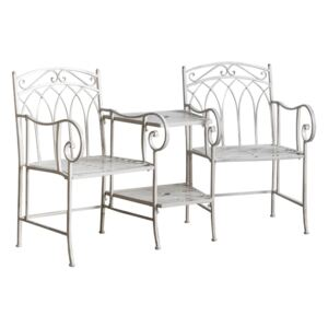 Greenwich Outdoor Loveseat in Weathered White