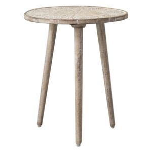 Payzac Patterned White Side Table