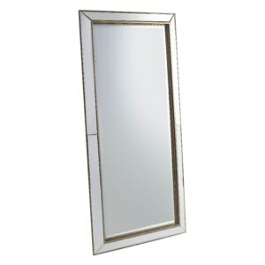 Micah Standing Mirror with Gold Trim