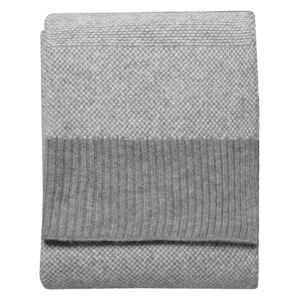 Olivia Knitted 2 Toned Throw in Grey