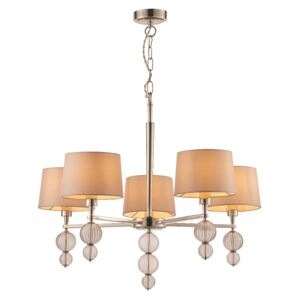 Sandy Contemporary Glass and Silk Chandelier
