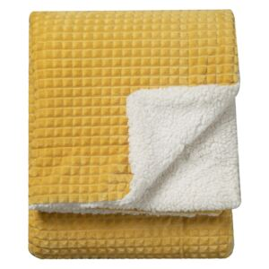 Kratos Embossed throw in Yellow