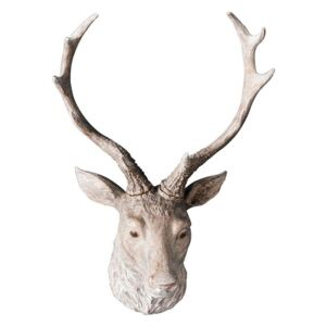 Alcott Faux Stag Wall Decoration in Weathered White