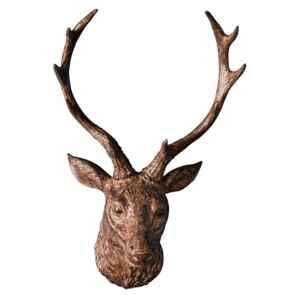 Alcott Faux Stag Wall Decoration in Soft Bronze