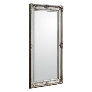 Harlow Standing Mirror in Antique Silver