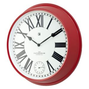 Ruby Wall Clock in Cherry Red