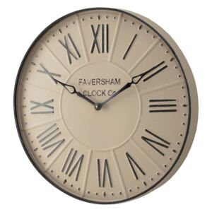 Basil Large Vintage Wall Clock in Stone