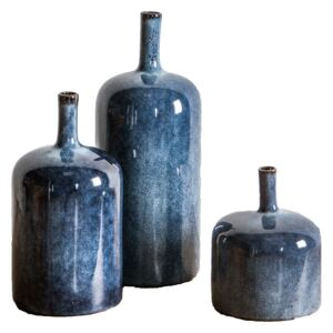 Orion Vases in Blue, Set of Three