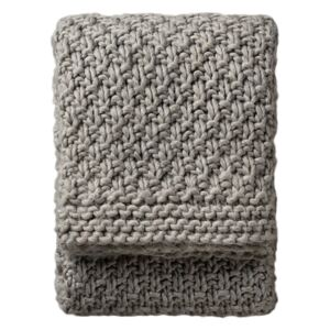 Marley Charcoal Heavy Knit Throw