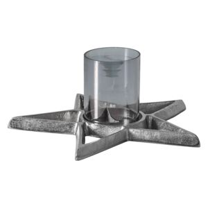 Kelso Silver Star Candle Holder
