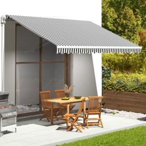 VidaXL Replacement Fabric for Awning Anthracite and White 4.5x3.5 m