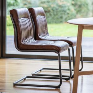 Carter Leather Dining Chair - Brown