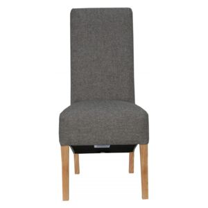 Clemente Scroll Back Fabric Chairs - Dark Grey (2 Pack)