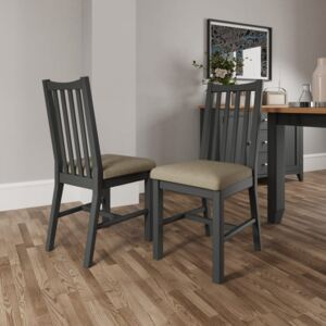 Galileo Dining Chairs - Grey (2 Pack)