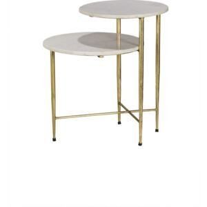 Jett Metal with Stone Top Lamp Table