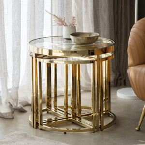 Maresca Metal Side Table - Gold