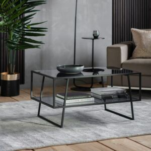 Pinner 100cm Rectangle Glass Coffee Table - Black