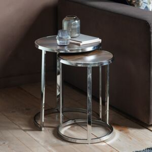 Bourton Metal Nest of 2 Tables - Silver