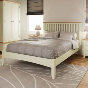 Galileo Pure White Double Bed Frame