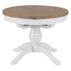 Terranostra 110cm Wood Round Dining Table - Old White