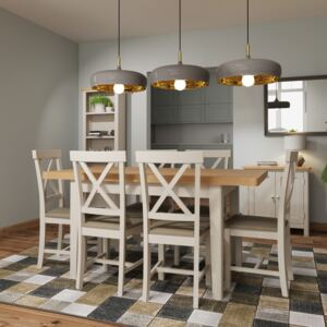 Ruskin 120cm Wood Extending Dining Table - Dove Grey