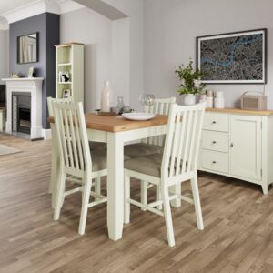 Galileo 85cm Wood Extending Dining Table - White