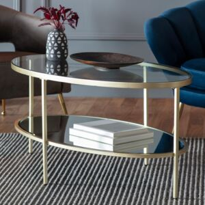 Adoi 112cm Oval Metal Coffee Table - Champagne