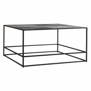 Madson 80cm Square Metal Coffee Table - Antique Silver