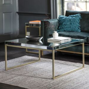 Pippy 90cm Square Metal Coffee Table - Champagne