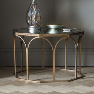 Archie 80cm Round Metal Coffee Table - Gold