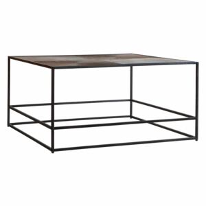 Madson 80cm Square Metal Coffee Table - Antique Copper