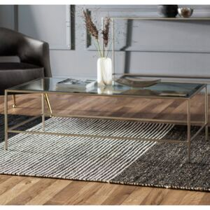 Robbie 120cm Rectangle Metal Coffee Table - Champagne