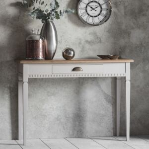 Emily Mahogany 1 Drawer Console Table - Taupe