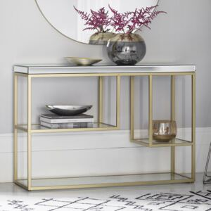 Pippy Metal Console Table - Champagne