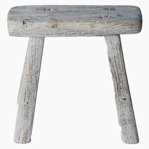 Miniature Waxed Wooden Vintage Stool - Elegant by Snowdrops - Default Title