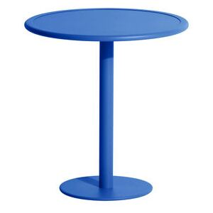 Week-End Round table - / Bistrot - Aluminium - Ø 70 cm by Petite Friture Blue